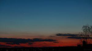 Planet Venus am 29. März 2018 um 20:32 Uhr am Abendhimmel