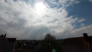 Wetterbild vom 1. April 2018 (Ostersonntag) um 13:06 Uhr