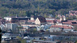 Würzburg: Mainviertel mit Deutschhauskirche und Klosterkirche Don Bosco am Schottenanger