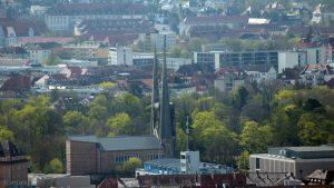 Würzburg: Blick auf St. Johannis