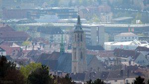 Würzburg: Blick auf St. Josef im Stadtteil Grombühl