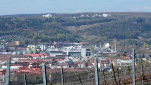 Würzburg: Blick auf die Zellerau und den Hexenbruch in Höchberg