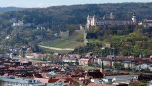 Blick auf das Mainviertel in Würzburg
