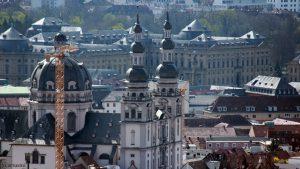 Würzburg: Blick auf Stift Haug und die Residenz