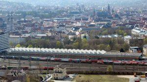 Blick auf die Würzburger Posthallen