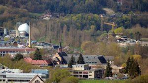 Würzburg: Kläranlage und Kloster Himmelspforten in der Zellerau