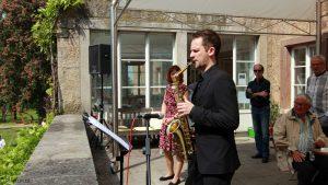 Erbachshof Art Project - Saxophonist Cornelius Wünsch