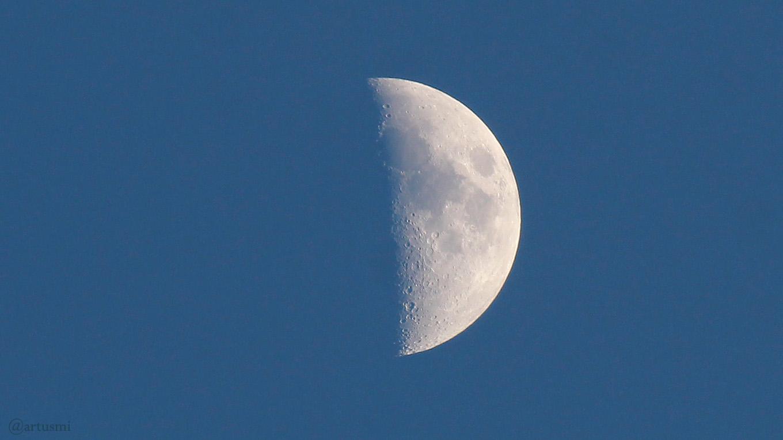 Zunehmender Mond am 21. Mai 2018 um 20:55 Uhr