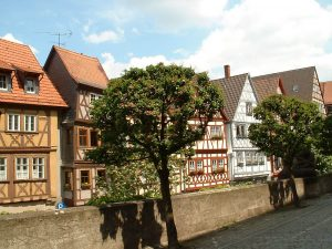 Fachwerkhäuser in Ochsenfurt am Main im Lkr. Würzburg