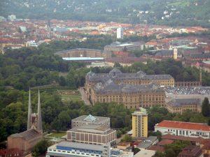 St. Johannis, Feuerwache und Residenz in Würzburg am Main