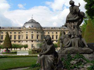 Residenz und Hofgarten in Würzburg