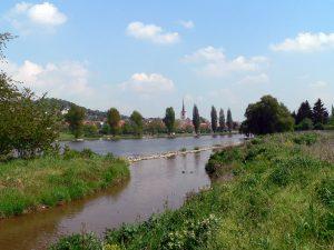 Der Main bei Kleinochsenfurt im Lkr. Würzburg