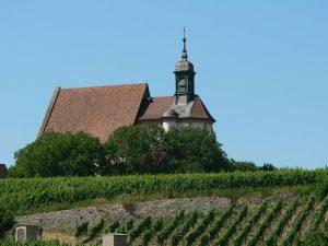 Wallfahrtskirche Maria im Weingarten bei Volkach im Lkr. Kitzingen