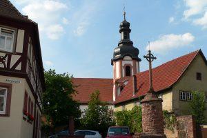 Irisches Hochkreuz in Kreuzwertheim im Lkr. Main-Spessart