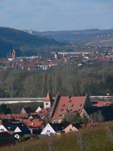 Sommerhausen und Eibelstadt mit Festung Marienberg in Würzburg