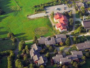 Begehbares Labyrinth im St. Josefs-Stift Eisingen