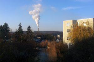 Zuckerfabrik und Main-Klinik in Ochsenfurt am Main