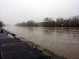 Hochwasser in Ochsenfurt am Main