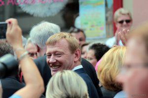 1. Bürgermeister Peter Juks beim Tag der Franken am 6. Juli 2014 in Ochsenfurt im Lkr. Würzburg