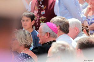 Bischof Friedhelm Hofmann beim Tag der Franken am 6. Juli 2014 in Ochsenfurt im Lkr. Würzburg