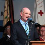 Landrat Eberhard Nuß beim Tag der Franken am 6. Juli 2014 in Ochsenfurt im Lkr. Würzburg