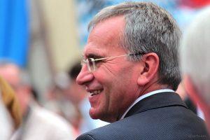 MdB Paul Lehrieder beim Tag der Franken am 6. Juli 2014 in Ochsenfurt im Lkr. Würzburg