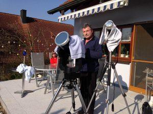 Artur Schmitt am 20. März 2015 während der partiellen Sonnenfinsternis