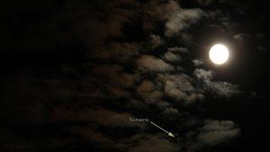 Konstellation Saturn und Mond am 19. Juni 2016