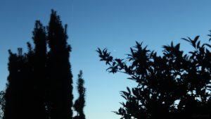 Strichspur der ISS und Planet Venus am 1. Juni 2018 um 22:22 Uhr am Westhimmel von Eisingen