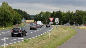 Verkehrsführung B 27 Umfahrung Höchberg am 22. Juni 2018 um 10:54 Uhr