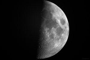 Zunehmender Mond (erstes Viertel) am 19. Juli 2018 um 21:25 Uhr