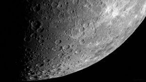 Kraterlandschaft am 19. Juli 2018 um 21:33 Uhr am Südpol des Mondes
