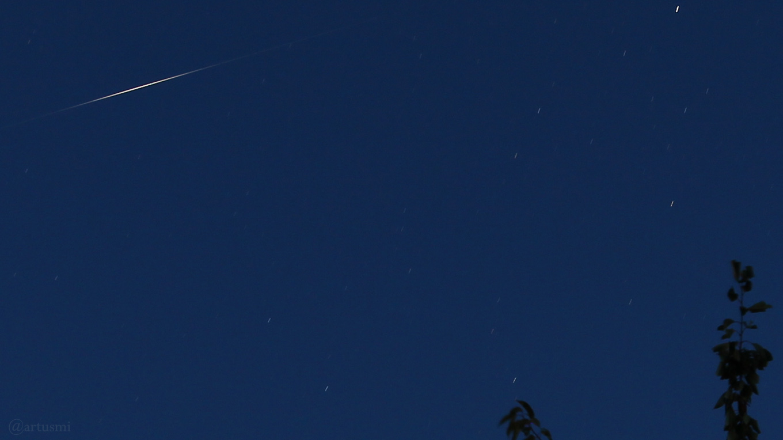 Flare des Satelliten Iridium 11 am 24. Juli 2018 um 22:17 Uhr