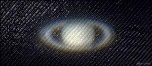 Künstlerische Darstellung von Saturn am 24. Juli 2018 um 23:45 Uhr