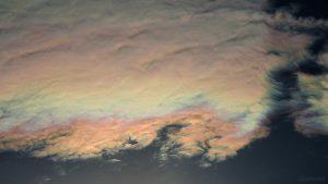 Irisierende Wolken am 29. Juli 2018 um 19:15 Uhr