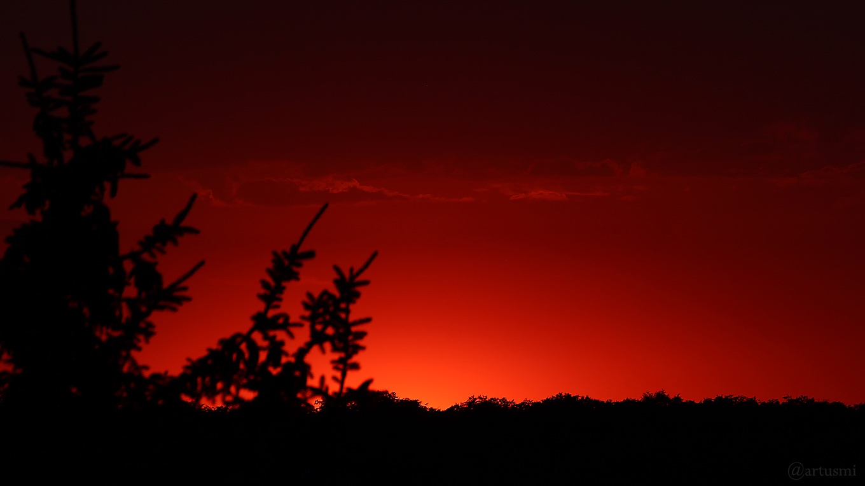 Nach dem Sonnenuntergang am 1. August 2018 um 20:58 Uhr