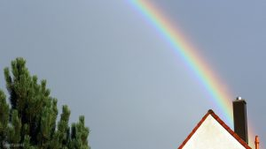 Regenbogen am 13. August 2018 um 19:55 Uhr