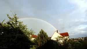 Regenbogen am 13. August 2018 um 19:57 Uhr