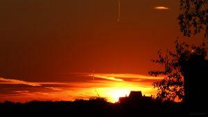 Sonnenuntergang am 16. August 2018 um 20:30 Uhr