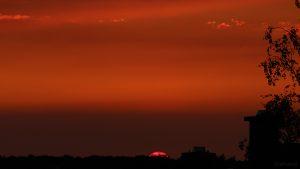 Sonnenuntergang am 17. August 2018 um 20:28 Uhr