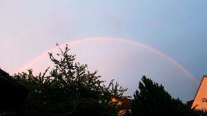 Regenbogen am 13. September 2018 um 19:33 Uhr