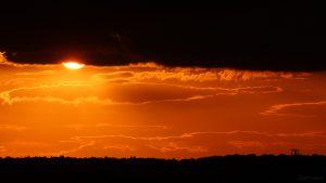 Untergehende Sonne am 24. September 2018 um 18:59 Uhr