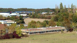 Baufortschritt an der neuen Kita in Eisingen am 29. September 2018