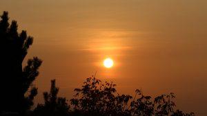 Sonnenuntergang am 18. Oktober 2018 um 17:49 Uhr