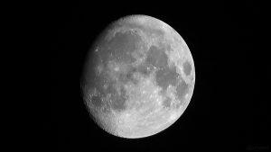 Zunehmender Mond am 21. Oktober 2018 um 22:12 Uhr