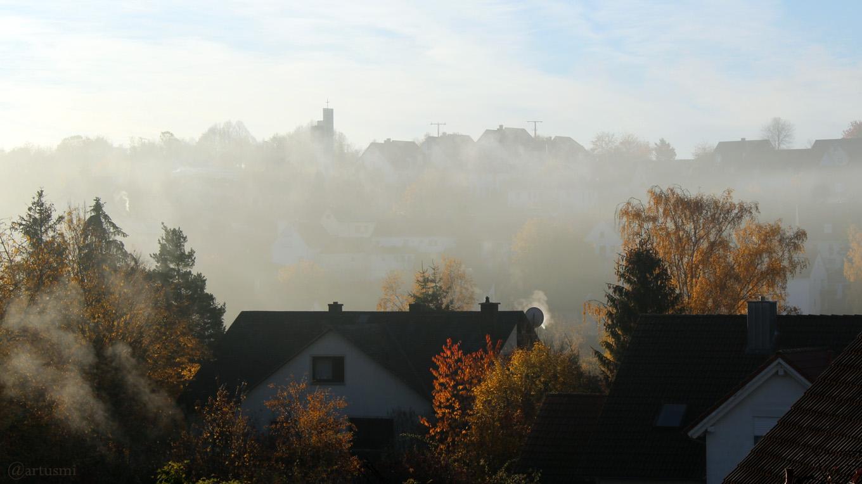 Nebel löst sich rasch auf am 7. November 2018 um 08:28 Uhr