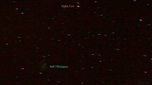 Komet 46P/Wirtanen am 10. Dezember 2018 um 00:13 Uhr