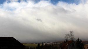 Schneeschauer im Anmarsch - Wetterbild vom 2. Januar 2019