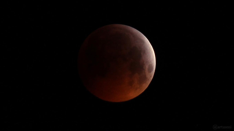 Bildergalerie zur totalen Mondfinsternis 2019