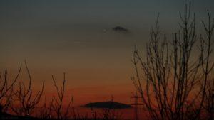 Merkur am 19. Februar 2019 um 18:36 Uhr am Westhimmel